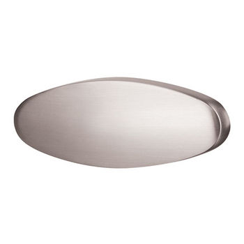 Hafele (2-1/2'') Pull Handle in Brushed Nickel, 63mm W x 26mm H