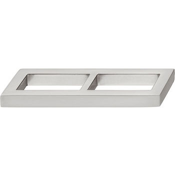Hafele Nouveau Collection 4'' W Handle in Brushed Nickel, 104mm W x 24mm D x 10mm H