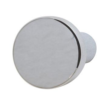 Hafele Nouveau Collection Round Knob, Polished Chrome, 20mm Diameter