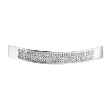 Hafele Elements Collection Crystal Handle in Polished Chrome, 160mm W x 31mm D x 23mm H
