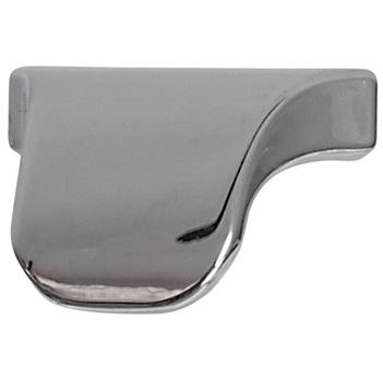 "Cornerstone Series Elite Handle (1-3/8"" W) Modern Finger Pull Handle in Polished Chrome"