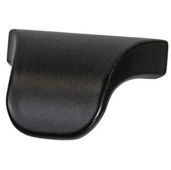 "Cornerstone Series Elite Handle (1-3/8"" W) Modern Finger Pull Handle in Dark Oil-Rubbed Bronze"