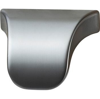 "Cornerstone Series Elite Handle (1-3/8"" W) Modern Finger Pull Handle in Slate/Graphite"