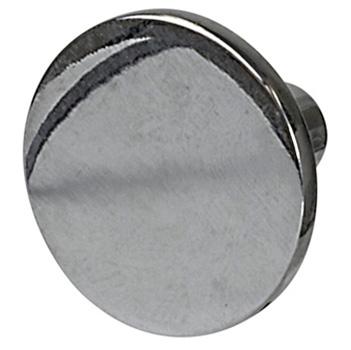 "Cornerstone Series Elite Handle (1-1/8"" Diameter) Mid-Century Modern Knob in Polished Chrome"
