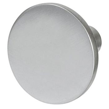 "Cornerstone Series Elite Handle (1-1/8"" Diameter) Mid-Century Modern Knob in Matt Aluminum"
