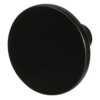 "Cornerstone Series Elite Handle (1-1/8"" Diameter) Mid-Century Modern Knob in Dark Oil-Rubbed Bronze"