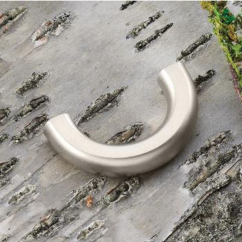 Hafele (1-5/8'' W) Arched Pull Handle in Matt Nickel, 40mm W x 23mm D x 9mm H