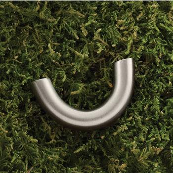 Hafele (2'' W) U-Shaped Pull Handle in Matt Nickel, 50mm W x 28mm D x 10mm H