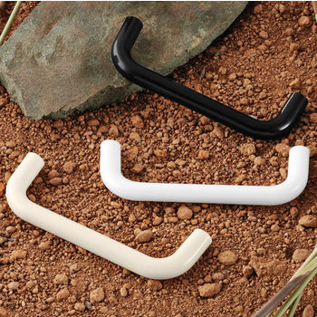 Hafele (4-1/5'' W) Plastic Handle in White, Black or Almond, 106mm W x 35mm D x 10mm H