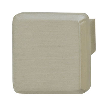 Hafele Georgia Collection Knob in Brushed Nickel, 25mm W x 21mm D x 25mm H