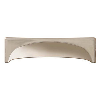 Hafele Georgia Collection Cup Handle in Polished Nickel, 145mm W x 41mm D x 27mm H