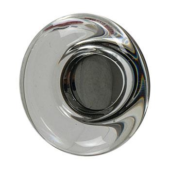 Hafele Amerock Glacio Collection Round Knob, Oil-Rubbed Bronze/ Clear, 44mm Diameter