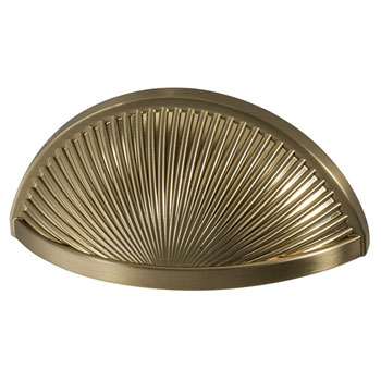 Hafele Amerock Sea Grass Collection Cup Pull, Golden Champagne, 98mm W x 46mm D x 30mm H, 76mm Center to Center