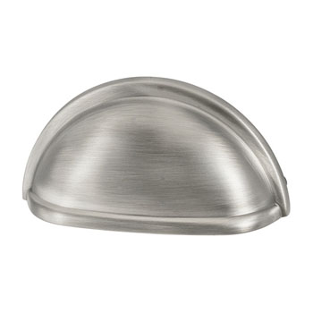 Hafele Amerock Collection Cup Pull, Antique Silver, 87mm W x 41mm D x 25mm H, 76mm Center to Center