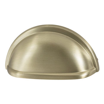 Hafele Amerock Collection Cup Pull, Golden Champagne, 87mm W x 41mm D x 25mm H, 76mm Center to Center