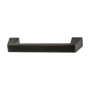 Hafele Amerock Blackrock Collection Handle, Oil-Rubbed Bronze, 95mm W x 14mm D x 27mm H, 76mm Center to Center