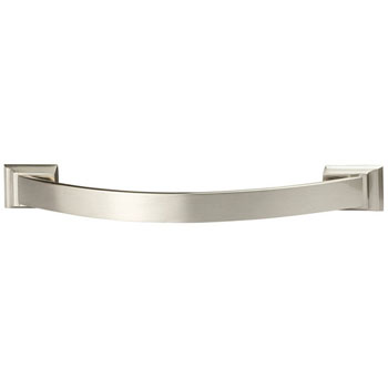 Hafele Amerock Candler Collection Handle, Satin Nickel, 167mm W x 21mm D x 32mm H, 128mm Center to Center