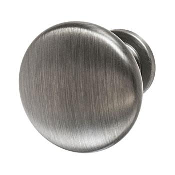 Hafele Amerock Allison Collection Round Traditional Knob, Antique Silver, 32mm Diameter