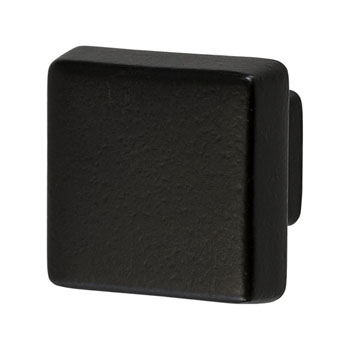 Hafele Amerock Blackrock Collection Square Knob, Black Bronze, 30mm W x 30mm D x 27mm H