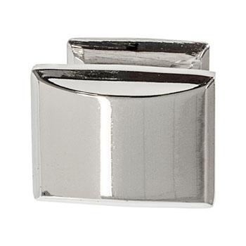 Hafele Amerock Candler Collection Knob, Polished Nickel, 32mm W x 25mm D x 29mm H