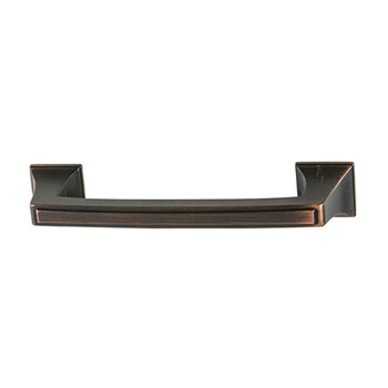 Hafele Amerock Mulholland Collection Handle, Oil-Rubbed Bronze, 116mm W x 21mm D x 29mm H, 96mm Center to Center