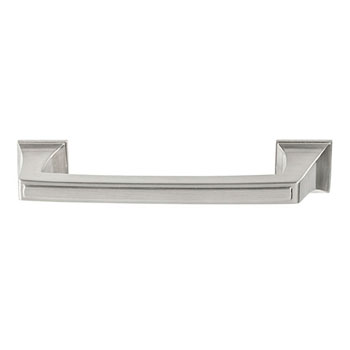 Hafele Amerock Mulholland Collection Handle, Satin Nickel, 116mm W x 21mm D x 29mm H, 96mm Center to Center