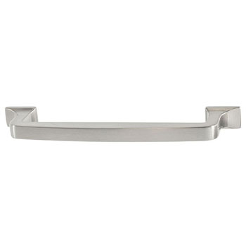 Hafele Amerock Westerly Collection Handle, Satin Nickel, 159mm W x 14mm D x 33mm H, 128mm Center to Center