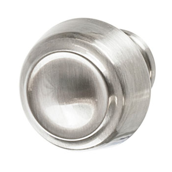 Contemporary Oval Knob 27mm X 34mm Satin Nickel Finish