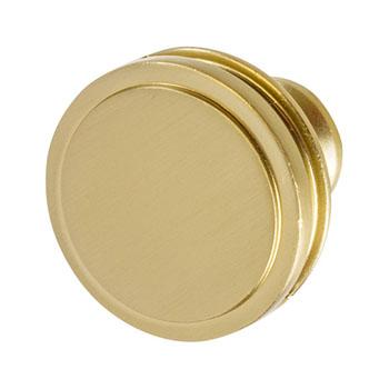 Hafele Amerock Oberon Collection Round Knob, Golden Champagne, 35mm Diameter