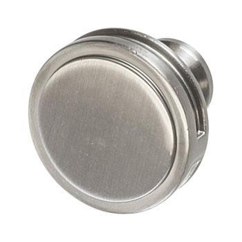 Hafele Amerock Oberon Collection Round Knob, Satin Nickel, 35mm Diameter