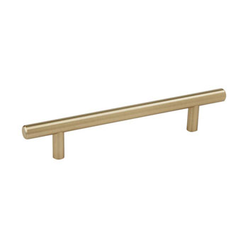 Hafele Amerock Collection Bar Pull, Golden Champagne, 252mm W x 13mm D x 35mm H, 192mm Center to Center