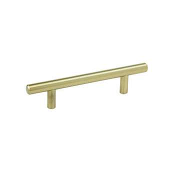 Hafele Amerock Collection Bar Pull, Golden Champagne, 156mm W x 13mm D x 35mm H, 96mm Center to Center