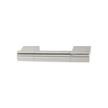 Hafele Amerock Kontur Collection Handle, Satin Nickel, 102mm W x 16mm D x 38mm H, 76mm Center to Center