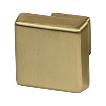 Hafele Amerock Blackrock Collection Square Knob, Golden Champagne, 30mm W x 30mm D x 27mm H