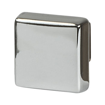 Hafele Amerock Blackrock Collection Square Knob, Polished Nickel, 30mm W x 30mm D x 27mm H