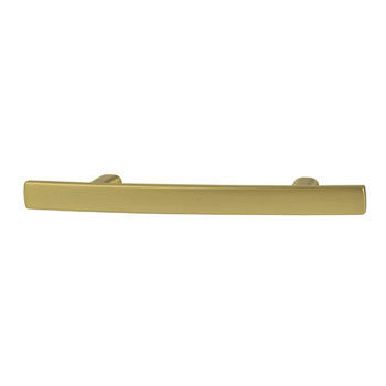Hafele Amerock Cyprus Collection Handle, Golden Champagne, 133mm W x 10mm D x 27mm H, 76mm Center to Center