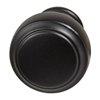Hafele Amerock Highland Ridge Collection Round Knob, Black Bronze, 30mm Diameter
