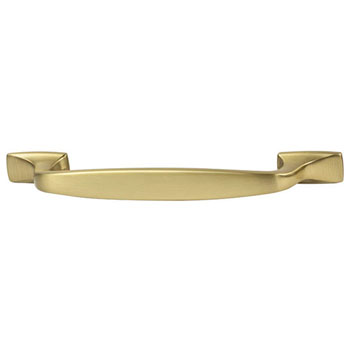 Hafele Amerock Highland Ridge Collection Handle, Gold Champagne, 168mm W x 16mm D x 32mm H, 128mm Center to Center