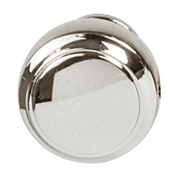 Hafele Amerock Highland Ridge Collection Round Knob, Polished Nickel, 30mm Diameter