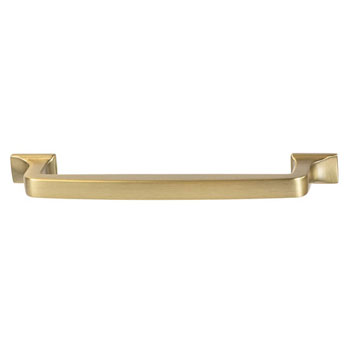 Hafele Amerock Westerly Collection Handle, Golden Champagne, 159mm W x 14mm D x 33mm H, 128mm Center to Center