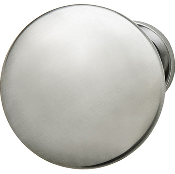 Hafele Chanterelle Collection Mushroom Knob in Satin Chrome, 30mm W x 28mm D x 17mm Base Diameter