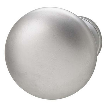Hafele Chanterelle Collection Mushroom Knob in Matt Chrome, 30mm W x 28mm D x 17mm Base Diameter