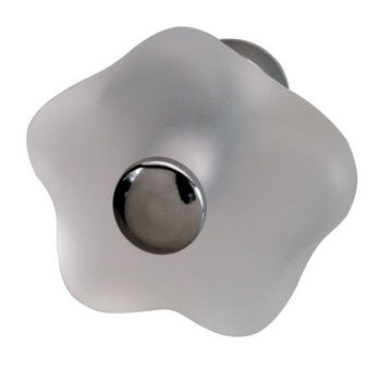 Hafele Glass/Polished Chrome Knob 33mm (1-1/4'') Diameter