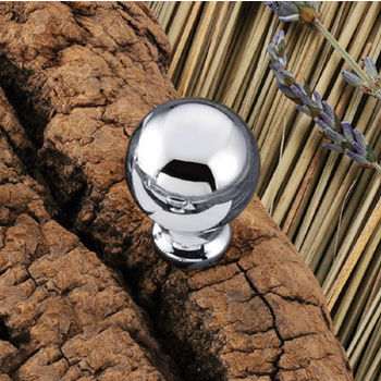 Hafele (3/4'') Diameter Round Knob in Polished Chrome, 19mm Diameter x 25mm D x 13mm Base Diameter