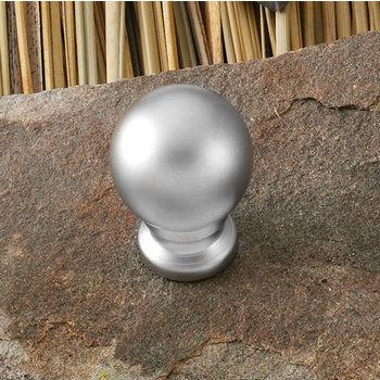 Hafele (3/4'') Diameter Round Knob in Matt Nickel, 19mm Diameter x 25mm D x 13mm Base Diameter