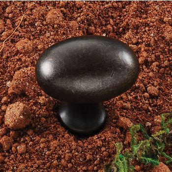 Hafele (1-1/4'' W) Oval Knob in Oil-Rubbed Bronze, 30mm W x 30mm D x 19mm H