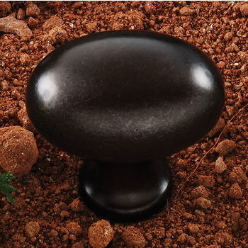 Hafele (1-3/8'' W) Oval Knob in Oil-Rubbed Bronze, 35mm W x 35mm D x 23mm H