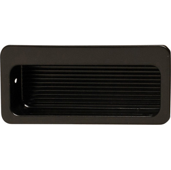 Hafele (3'' W) Mortise Recessed Handle in Matt Black, 75mm W x 9mm D x 32mm H