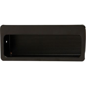 Hafele (4'' W) Mortise Recessed Handle in Matt Black, 100mm W x 11mm D x 39mm H