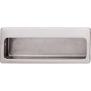 Hafele (4'' W) Mortise Recessed Handle in Polished Nickel, 100mm W x 11mm D x 39mm H